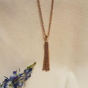 Sarah Coventry Golden Chain with Tassel  $17